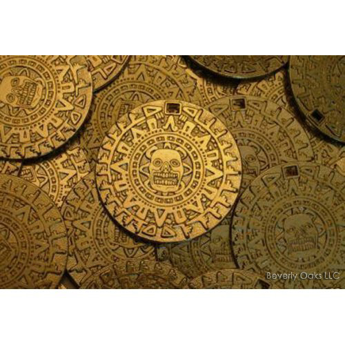 Lot of 10 - Aztec Gold Coins