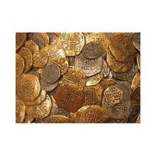 Lot of 100 - Pirate Doubloons Gold Coins