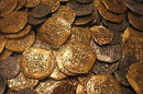 Lot of 40 - Gold and Silver Doubloon Replicas
