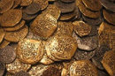 Lot of 200 - Gold and Silver Doubloon Replicas