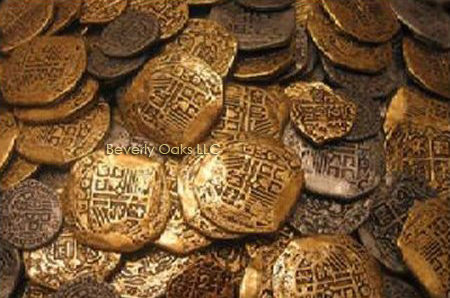 Lot of 1000 - Gold and Silver Doubloon Replicas