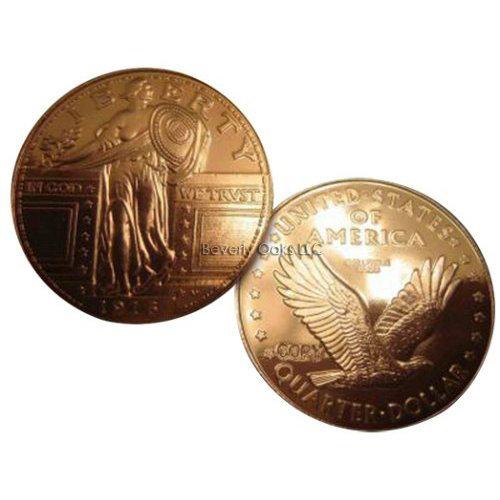 Lot of 10 - 1916 Standing Liberty Quarter Silver Replica Coins