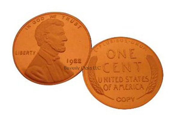 Lot of 10 - 1922 Plain Lincoln Cent Replica Coins