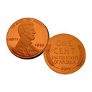 1955 Double Die Obverse Frosted Cameo Lincoln Cent Replica Coin