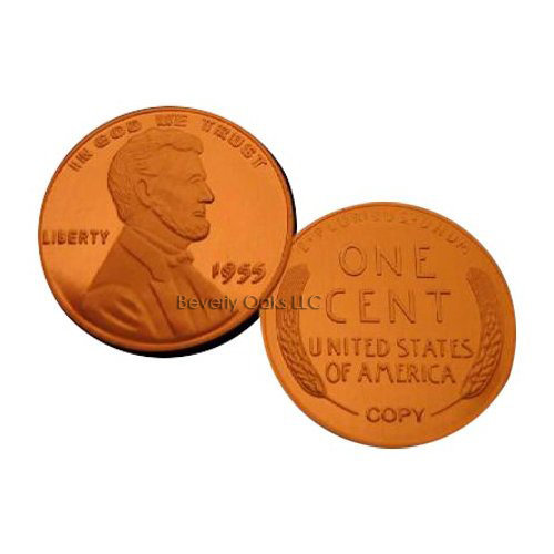 Lot of 10 - 1955 Double Die Obverse Frosted Cameo Lincoln Cent Replica Coins