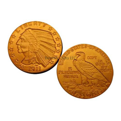 Lot of 10 - 1911 D $5 Indian Head Half Eagle Gold Replica Coins