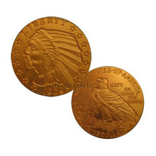 Lot of 10 - 1909 O $5 Indian Head Half Eagle Gold Replica Coins