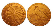 Lot of 10 - 1929 $5 Indian Head Half Eagle Gold Replica Coins