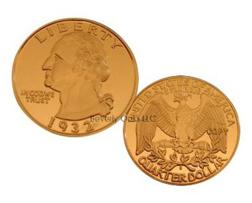 1932 S Washington Quarter Frosted Cameo Replica Coin
