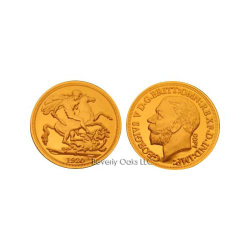 1920 S Gold Sovereign Replica Coin