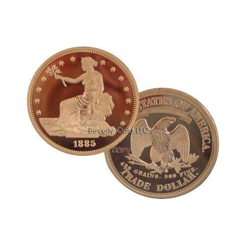 1885 Trade Dollar Silver Replica Coin