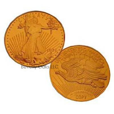 1921 $20 Saint Gaudens Gold Double Eagle Replica Coin