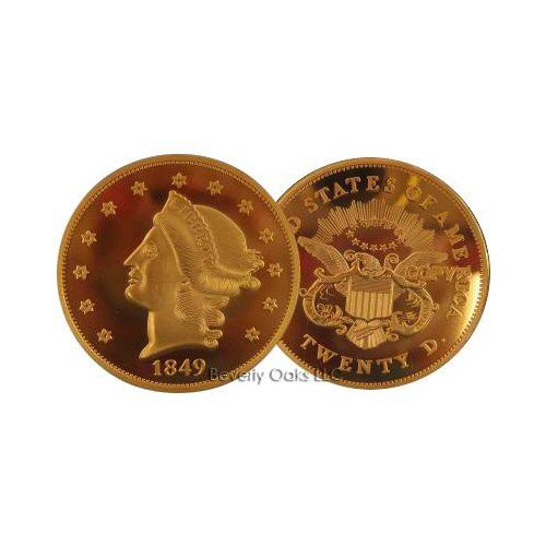 Lot of 20 - 1849 $20 Double Eagle Gold Replica Coins
