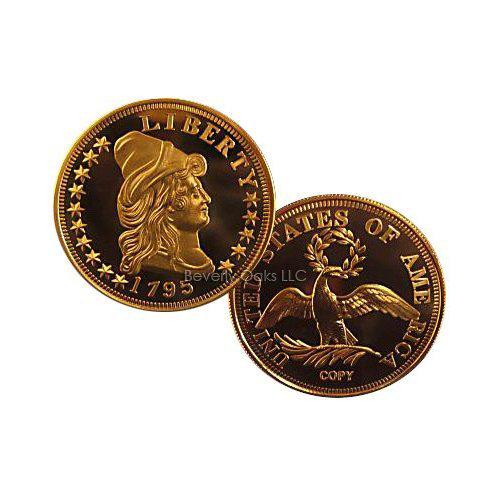 1795 $5 Gold Half Eagle BU Replica Coin