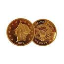 1849 Liberty Gold Double Eagle $20 USA BU Proof Replica