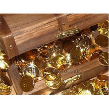 Lot of 20 - 1909-1959 24K Gold-plated Wheat Coins in Treasure Chest