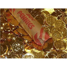 Lot of 10 - 24K Gold Layered Wheat Cents