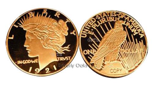 1921 $1 Peace Liberty Silver Dollar Replica Coin