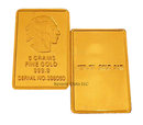 5g Gold Buffalo Indian Replica Bullion Bar