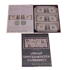 Uncut $1 Bills Sheet Mint