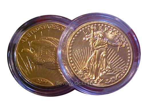 Lot of 10 - 1933 $20 Saint Gaudens Gold Double Eagle Replica Coins