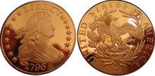 1796 Draped Bust Half Dollar Silver Coin - Replica