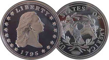 Lot of 100 - 1795 Flowing Hair Dollar Silver Coins - Replica