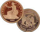 Lot of 10 - 1885 Trade Dollar Silver Coins - Replica