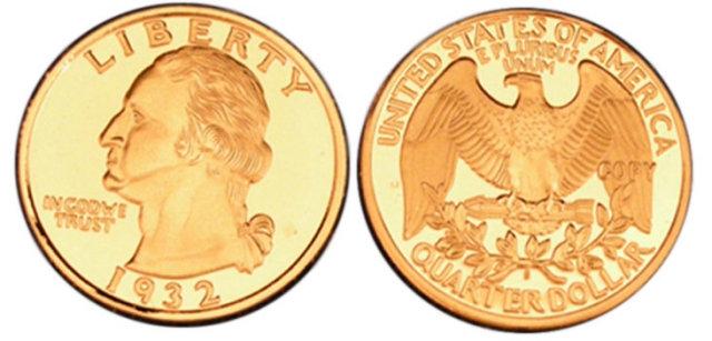 Lot of 50 - 1932-S Washington Quarter Silver Coins - Replica