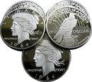 1964-D $1 Peace Silver Dollar Coin - Replica