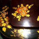 Antique Victorian English Paper Papier Mache' Lacqured Tea Tray