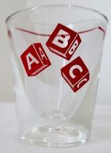 Vintage ABC Shot Glass