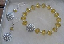 Shamballa bracelet and earrings      special