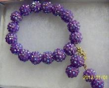 Shamballa light purple  earrings and bracelets