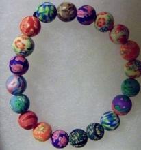 Shamballa beaded multicolor Clay beaded  bracelet