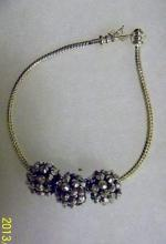 Shamballa Silver beads with silver tone bracelet