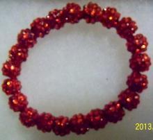 Shamballa vibrant red bracelet
