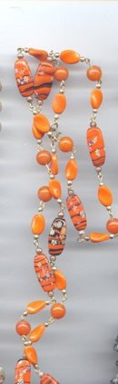 SALE Venetian Art Glass Necklace   32
