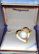 SALE Wedgwood Heart Shaped Pendant