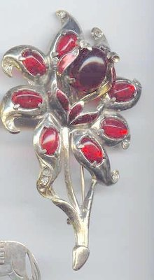 SALE Fabulous Trembler Gigantic Flower Brooch