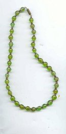 SALE Murano Green Glass Necklace