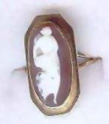 Cameo ring 14kt gold