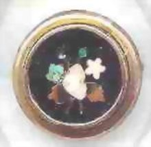 SALE 14Kt gold Inlay gem Ring  Vintage