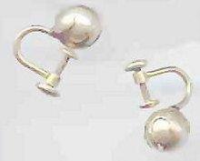 SALE Vintage Cultured Pearl Earrings    12kt