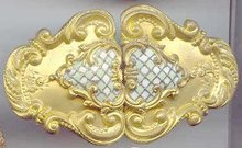 SALE Gilted Enameled Brilliant Belt Buckle
