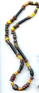 SALE African Trade Bead Necklace