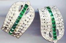 SALE Glitzy Pair of Rhinestone vintage Clips