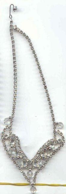 SALE Rhinestones and Crystal Necklace