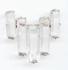 SALE Checz  Crystal Pin Art Deco Style
