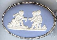 SALE Fine Wedgwood With Cherubs  Pin  Blue